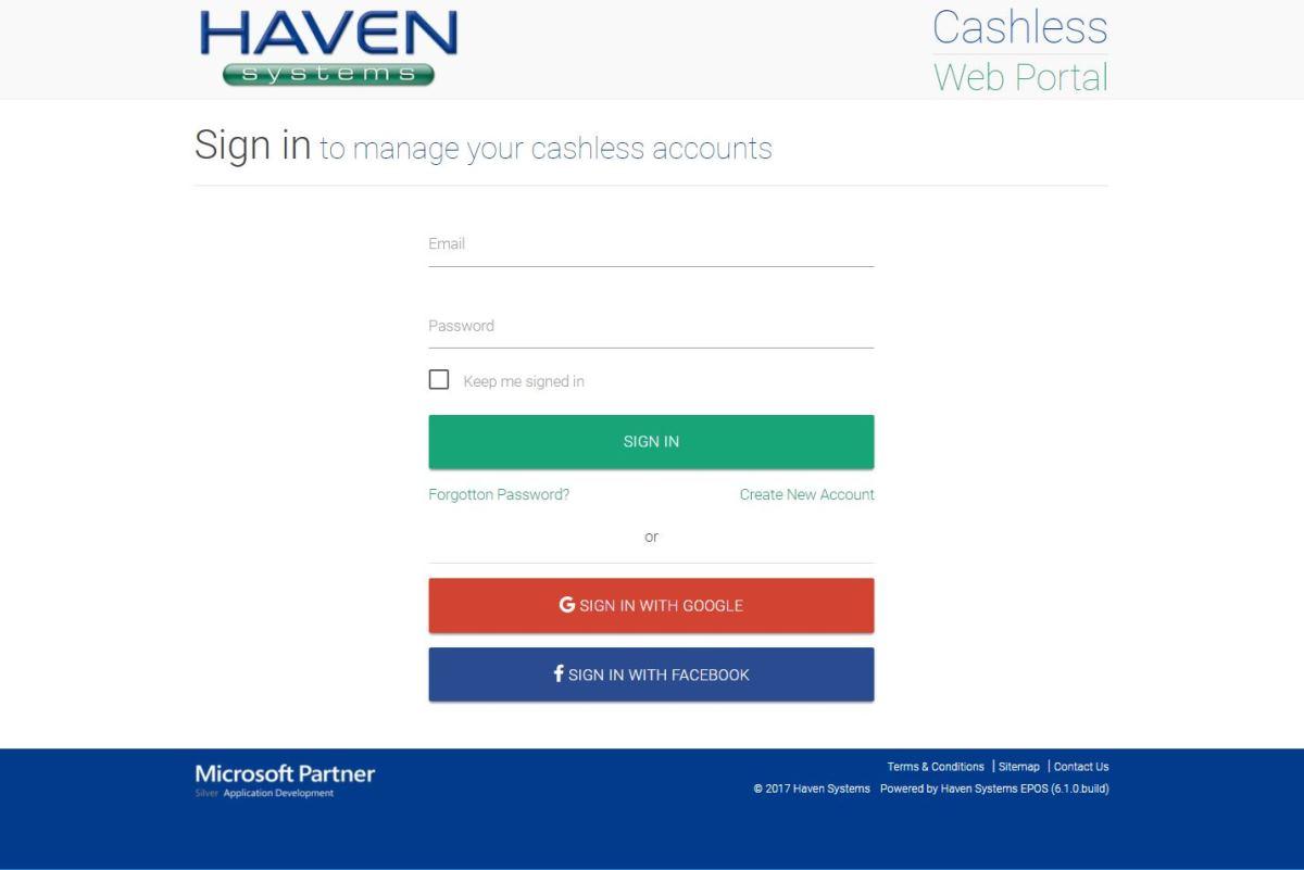 Cashless Web Portal